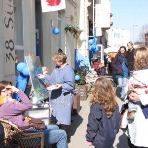 """März 2011: Blütenfest auf der Deisterstraße und in Linden-Mitte """"Das Blaue Wunder"""""""