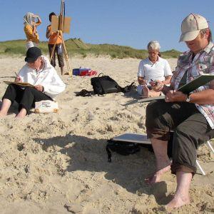 Sylt 2008: Malen bei Anneli Schwager